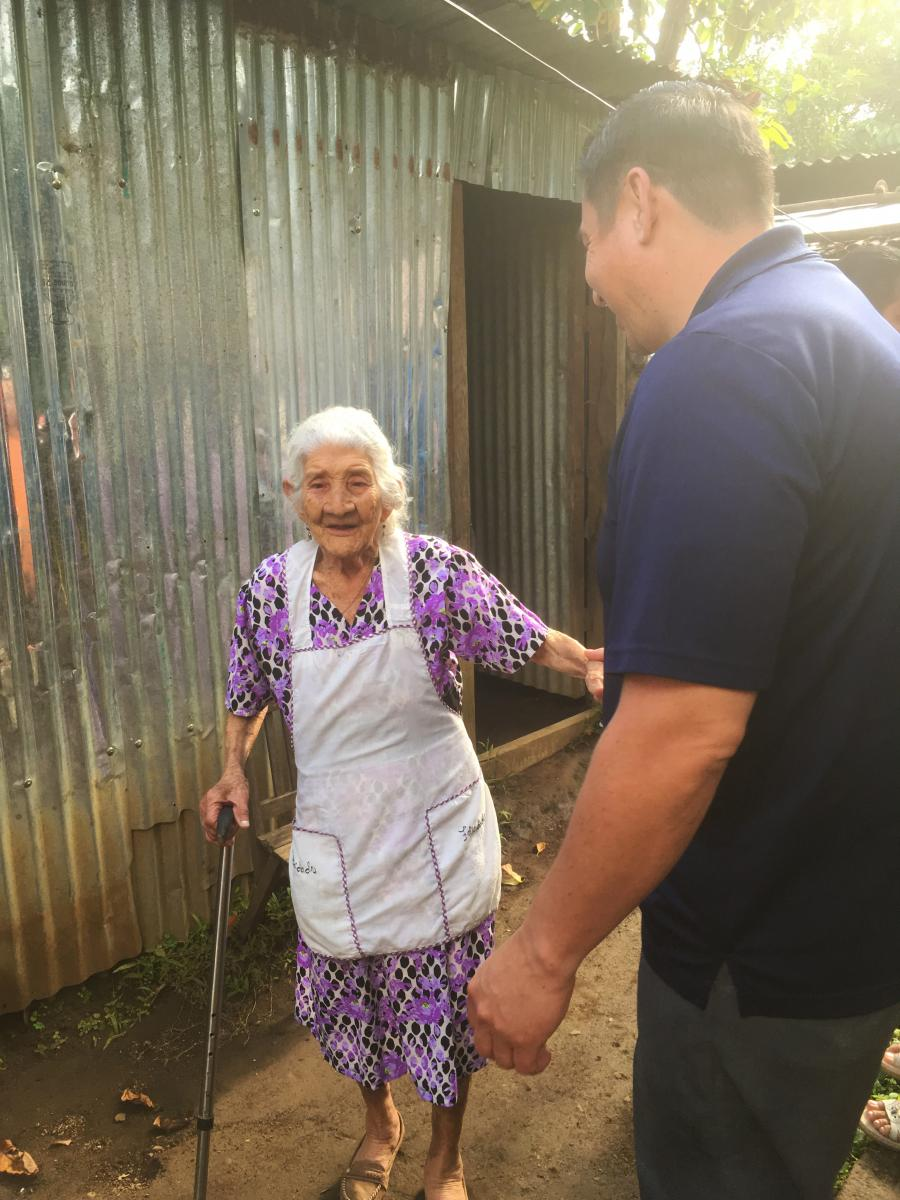 Maria a 103 year old continues to faithfully serve in El Savador