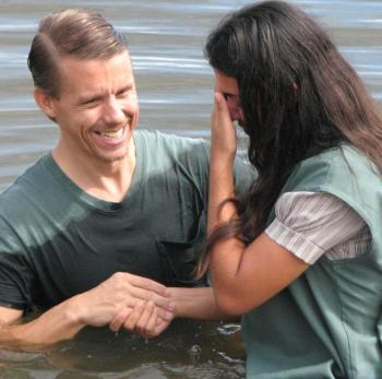 Baptism by a Missions graduate in Brazil